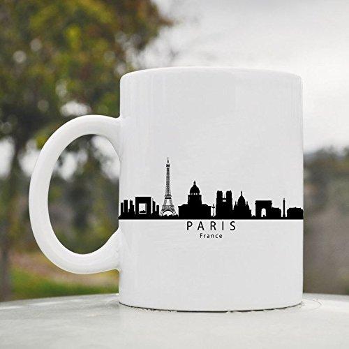 Paris France Eiffel Tower City Skyline Cute Funny 11Oz Ceramic Coffee Mug Cup