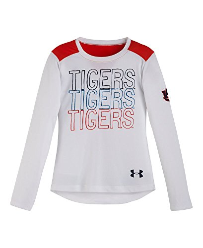Under Armour Little Girls' Toddler Auburn Tigers Long Sleeve 2T White