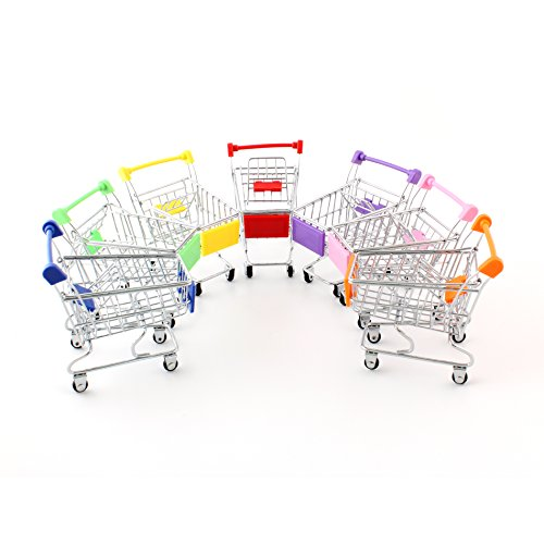 Mini Shopping Cart Trolley for Desktop Decoration Ornament Toys