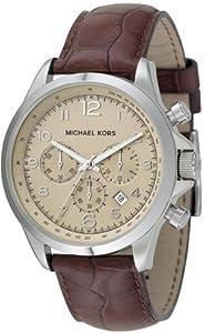 Michael Kors Men's MK8115 Brown Leather Chronograph Watch
