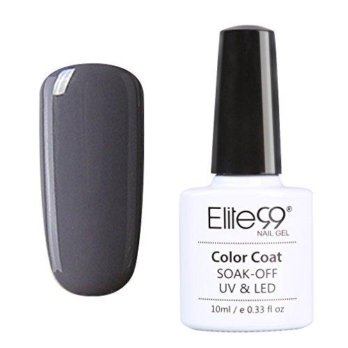 Elite99 Vernis A Ongles Semi Permanent Gel UV ou LED Soak Off Manucure Serie Gris 10ml 010