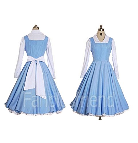 Costumesky Beauty and The Beast Belle cosplay costume (Email us your Size)