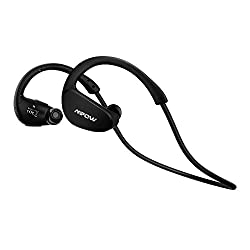 [Gen-2 Version] Mpow Cheetah Nano-coating Bluetooth 4.1 Stereo Sports Headphones Sweatproof for Running Gym Exercise Hands-free Calling-Black
