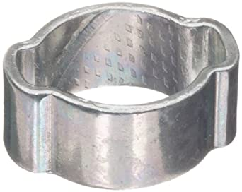 Dixon Zinc Plated Steel Pinch-On Double Ear Clamp