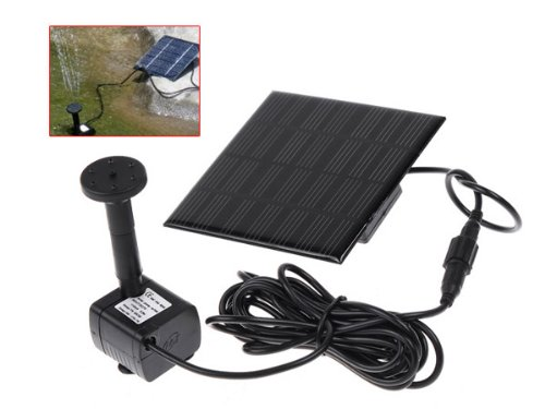 7V 1.12W Small Solar Powered Panel Water Fountain Pump for Garden Pond GY-D-001