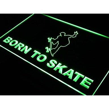 Born To Skate Skateboard Shop Neon Light Sign