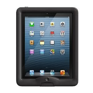 LifeProof wasserdichtes nüüd Schutzgehäuse und Abdeckung/Ständer für Apple iPad 4/3/2 schwarz/klar