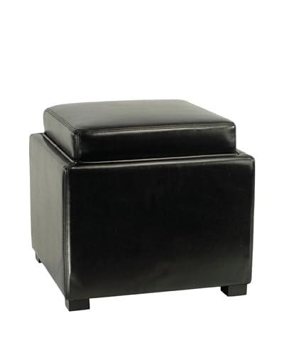 Safavieh Bobbi Tray Storage Ottoman, Black
