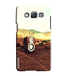 Omanm Music Speaker On Road Printed Designer Back Cover Case For Samsung Galaxy E5
