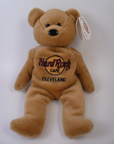"Hard Rock Cafe Cleveland ""Isaac Beara"" Plush Bean Bag 8"" Bear - 1"