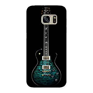 Greenish Print Guitar Back Case Cover for Galaxy S7