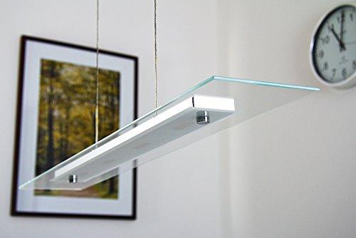 Led lampada a sospensione metallo cromo vetro satinato design