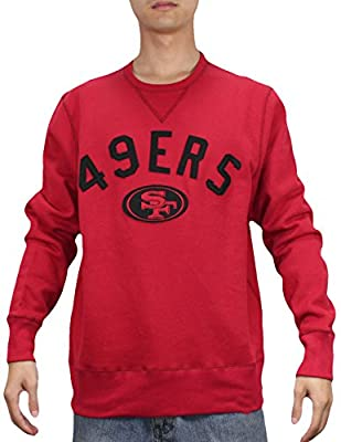 Mens NFL San Francisco 49ers Athletic Pullover Long Sleeve Sweatshirt