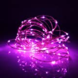 Generic 13M 120LED Solar Copper String Fairy Light Wedding Party Christmas Garden Outdoor Lamp IP70-pink