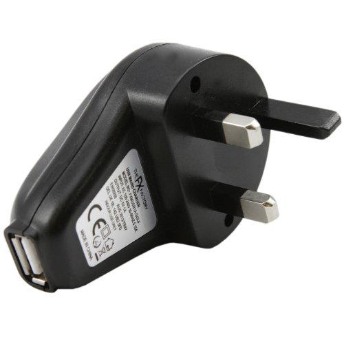 iTALKonline SCHWARZ 3 Pin UK USB-Netzladegerät Power-Anschluss-Stecker-Leiter 1000 mAh mit LED-Anzeige (CE & ROHS) Für SanDisk Sansa Fuze 2GB, 4GB,8GB,Sansa View,E200,E250,E260,E270,E280 & Sansa Clip MP3 Player, 1000mA USB Power Adapter Mains Charger UK Wall Plug for MP3 players, ipods, iphone 3G, mobile phones, PDA's and Digital Cameras, Sony NWZ-B135B 2GB, Sony NWZ-E436FB 4GB, Sony NWZ-S639FB 1