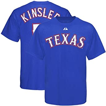 MLB Majestic Texas Rangers #5 Ian Kinsler Youth Royal Blue Player T-shirt (X-Large)