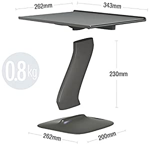Portable Laptop Stand for Desk and Car. A Creative Space Saving Ergonomic Adjustable Laptop Computer Table, Support Holder, Riser, Rest, Or Tray (Black New Version) (Color: Black New Version)