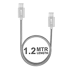 MTT® USB-C to USB-C 1.2 Meter silver Cable for ChromeBook Pixel,Nexus 5X/6P,NokiaN1 Tablet,OnePlus 2