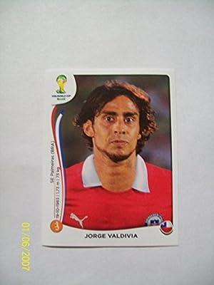 2014 Panini World Cup Soccer Sticker # 155 Jorge Valdivia; Team Chile.