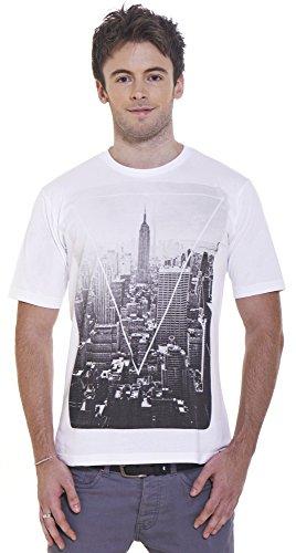 Retreez Vintage New York City Graphic Printed Unisex Men / Women T-Shirt - White - Large