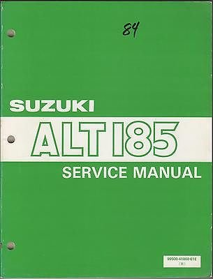 1984 Suzuki Atv 3-Wheeler Alt185 P/N 99500-41060-01E Service Manual (056) back-832946