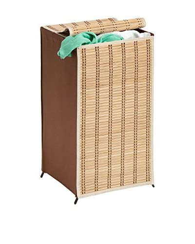 Honey-Can-Do Tall Bamboo Wicker Weave Hamper
