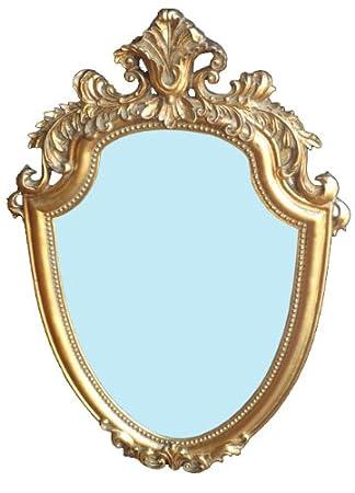 Art.148 Specchiera Scudo in Foglia Oro