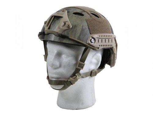 Bravo Airsoft Pj Helmet W/ Side Rails And Nvg Mount - Atc