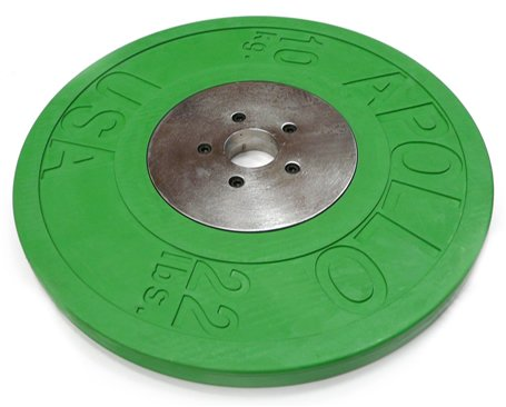 Deluxe Rubber/Chrome Olympic Plate 10Kg x2