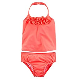Carter\'s Baby Girl\'s Rosette Tankini Set 18 Months - Coral