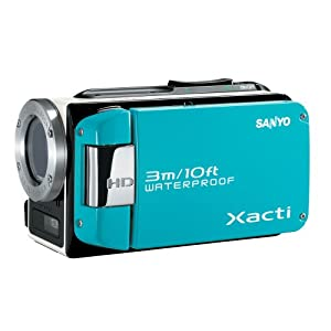 Sanyo VPC-WH1 HD Waterproof Flash Memory Camcorder w/ 30x Optical Zoom (Blue)