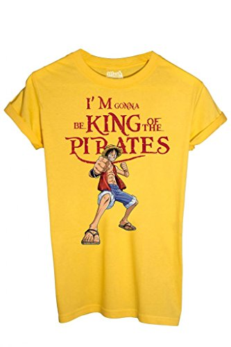 T-SHIRT ONE PIECE KING OF THE PIRATES-CARTOON by MUSH Dress Your Style - Bambino-XL