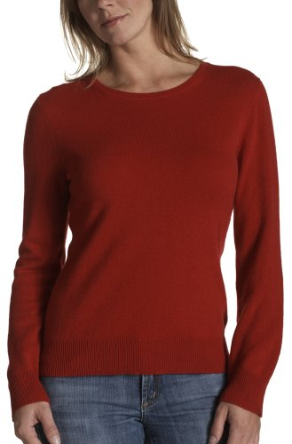 Buy Red Moon Women's Long Sleeve Cashmere Jersey Crew Neck Sweater