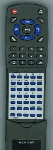 Jvc Replacement Remote Control For 098003060012, Jlc47Bc3002, Jlc37Bc3000