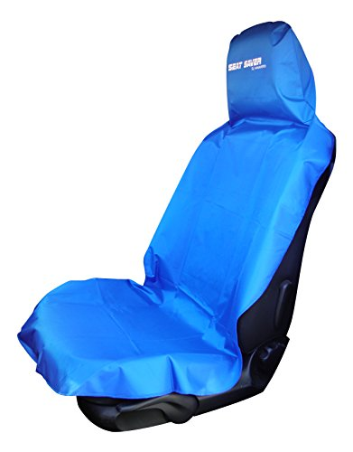 seat saver waterproof removable universal car bucket seat cover easy on and off blue. Black Bedroom Furniture Sets. Home Design Ideas