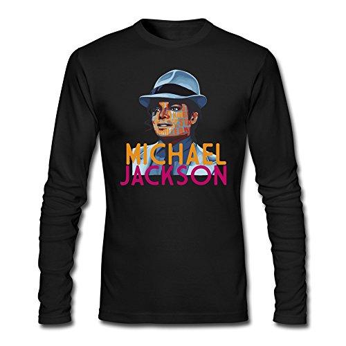 [Man Unisex Swag Michael Jackson Costume T-shirt Black] (Avatar Aang Costume)