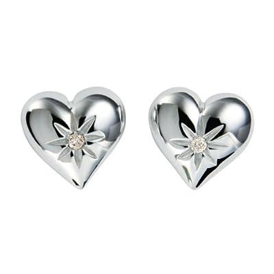 Hot Diamonds Two Hearts Silver And Diamond Earrings