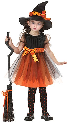 ZOEREA Girls Witch Costume Accessory Fairy Halloween Cosplay Party Fancy Dress