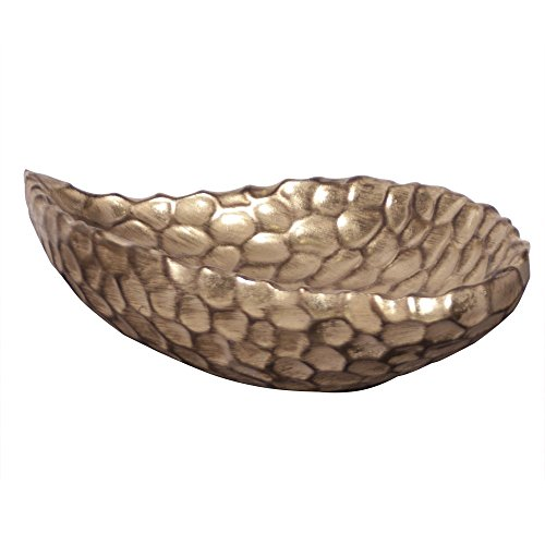 Howard Elliott 97017 Hammered Bowl, Gold