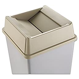 Rubbermaid Commercial RCP 2664 BEI Untouchable Square Swing Top Lid, Plastic, 20 1/8\