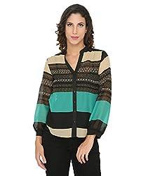 Philigree Women's Printed Shirt (325 0202_Green_Medium)