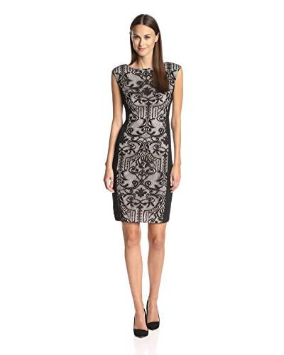 London Times Women's Lace Combo Sheath Dress