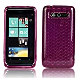 Cooltechstuff HTC 7 Trophy Hexagon Diamond Soft Silicone TPU Hot Pink Case Cover - Part of Cooltechstuff Store Accessories