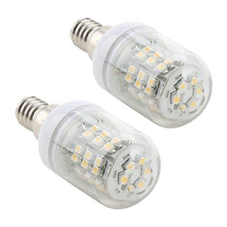 How Nice 5W E14 110-240V 48 Leds 3528Smd Led Corn Light Bulb Led Lamp Warm White -Pack Of 2