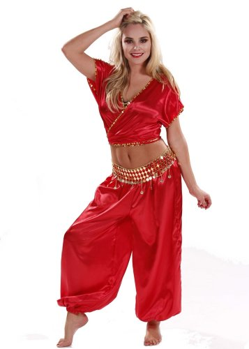 Miss Belly Dance Women's Belly Dance Harem Costume Set