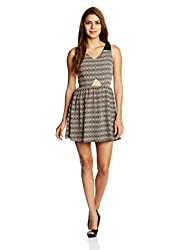 Anaphora Women's Cut-Out Dress (56091_Neon_X-Large)
