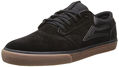 Lakai Men's Griffin Action Sports,Black/Gum Suede,5 M US