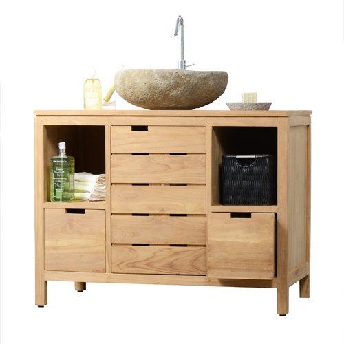 die besten badm bel set waschtisch waschbeckenschrank badezimmer unterschrank massiv holz teak. Black Bedroom Furniture Sets. Home Design Ideas