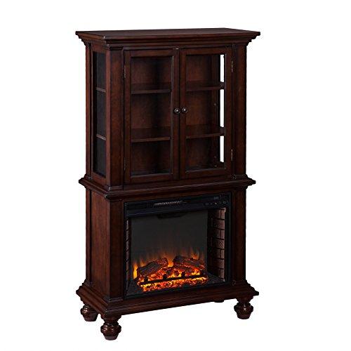 Southern Enterprises Tamworth Fireplace Curio, Espresso