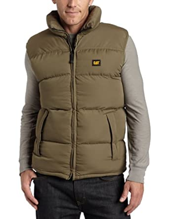 Caterpillar Men's Quilted Insulated Vest, Olive, X-Large